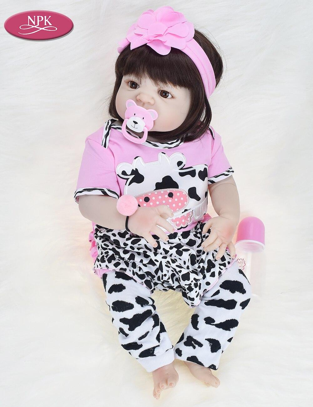 NPK Real 57CM Full Body SIlicone Girl Reborn Babies Doll Bath Toy Lifelike Newborn Princess Baby Doll Bonecas Bebe Reborn Menina (7)