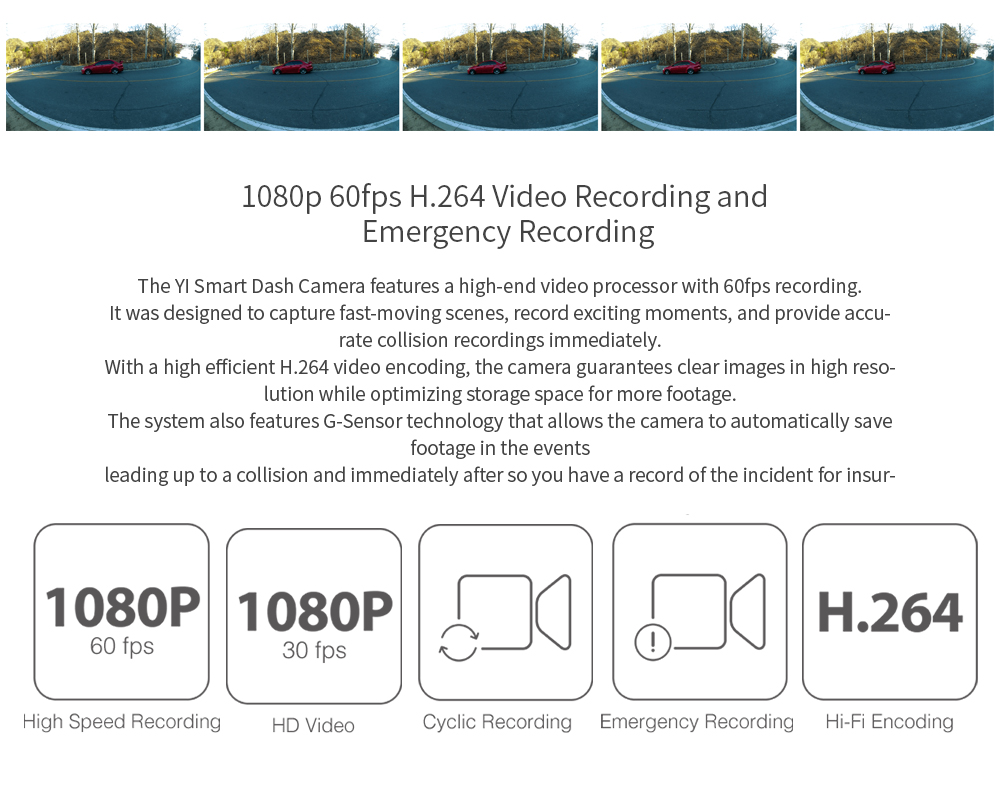 "HTB1IF8_piCYBuNkSnaVq6AMsVXai YI Smart Dash Camera Video Recorder WiFi Full HD Car DVR Cam Night Vision 1080P 2.7"" 165 Degree 60fps Camera For Car Recording"
