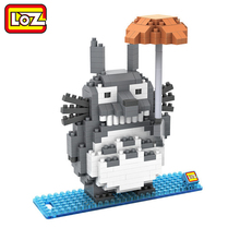 LOZ My Neighbor Totoro Toy Umbrella Totoro Model Action Figure Diamond Building Blocks No Original Box 14+ Gift 9509
