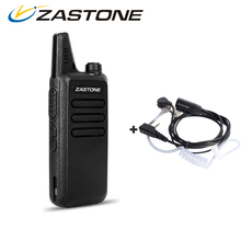 Zastone ZT-X6 Mini Walkie Talkie with Headset 400-470Mhz Frequency UHF Handheld Radios Comunicador Two Way Radio Birthday Gift