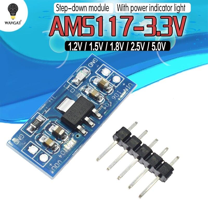 5PCS 2.5-5V TO 1.2V For DC-DC Step Down Power Supply Buck Module AMS1117-1.2V