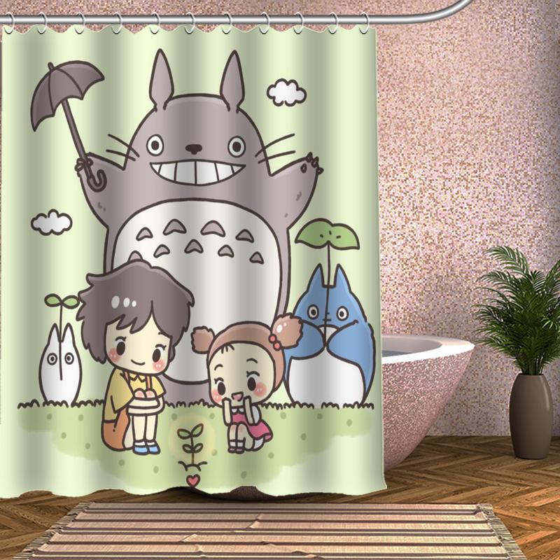 Popular My Neighbor Totoro Shower Curtain 66x72 Home Decor Waterproof Fabric Bath