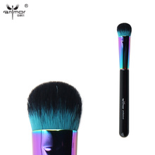 Anmor Colorful Large Fluff Brush Professional Highlighting Makeup Brushes For Liquid/Cream Cosmetics CFCA-A14(China)