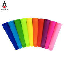 Wulekue Silicone Popsicle Mold Handhold Ice Stick Colorful Snacks Container