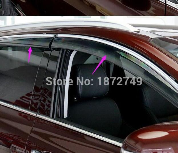 Window Wind Deflector Visor Rain/Sun For Kia Sorento 2015 2016 car-styling<br><br>Aliexpress