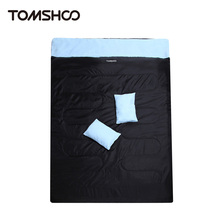 "TOMSHOO 86""x60"" Double Sleeping Bag 2 Person Outdoor Camping Hiking Sleeping Bags with 2 Pillows"