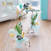 Sweet Girl hairband artificial flower headband hair ornaments honeymoon party photography wreath bride wedding accessory hanling
