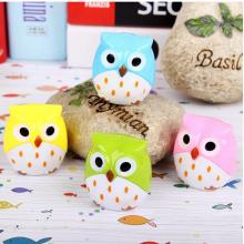 Plastic Kawaii Owl Pencil Sharpener Knife Pencil Cutter Knife School Supplies Papelaria(China)
