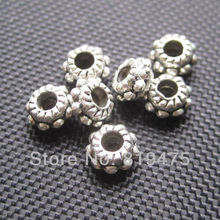 (10 gram /lot) About 50 pieces 5.3mm metal spacers  zinc alloy   jewelry findings for jewelry making