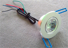 1*3W RGB LED downlight;DC12V input;with 4 wire PWM driver inside;size:D68 *40mm, Cut hole:D55mm