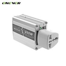 Onever 12V DC to AC 220V 50HZ Car Auto Power Pure Sine Inverter Converter Adapter Adaptor 200W USB Car Charger