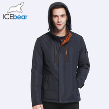 ICEbear 2017 Autumn&Spring New Style Jacket Men Parkas Hat Detachable Regular Padded Coat Brand Clothing 17MC228D