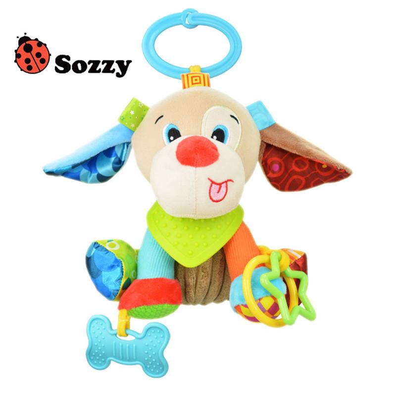 Sozzy Baby Animals Buddies Placate Activity Stuffed Plush Lion Dog Owl Elephant Monkey Teether Toy cm Multicolor Multifunction 9