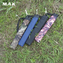 1 pc Arrow Bag 45X8.5 cm Oxford Cloth 4 Color Arrow Quiver 2 Point Single Shoulder for Archery Hunting Shooting(China)