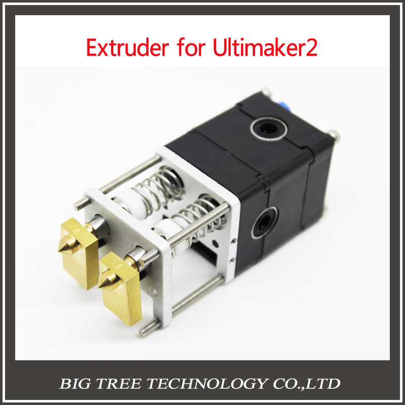 UM2 Ultimake 2 3D Printer Dual Extrusion kit 2 Nozzles Hot End Pack Ultimake 2 Dual Head Extruder for 3mm Ultimake 2, 0.4mm<br><br>Aliexpress