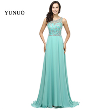 Vestido Longo 2017 A Line Chiffon Mint Beading Top Formal Dress Special Occasion Long Evening Dresses Elegant Real Pic x12301