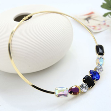 YFJEWE New hot fashion jewelry 7 colour crystal character charm collar necklace for women ladies for party #N012(China)