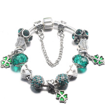 Fashion Perfume Charm Bracelets for Women With Murano Beads fit Brand charm Bracelets&Bangles Pulseras DIY Jewelry Gift(China)