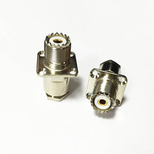 1pc New RF UHF Female Jack connector For RG8,RG213,LMR400 panel flange Nickelplated for WIFI antenna(China)