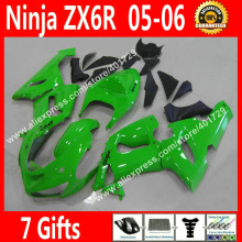 Brand new Fairings for Motorcycle Kawasaki Ninja ZX-6R 636 2005 2006 ZX 6R ZX6R 05 06 glossy green fairing kits NEW HOT FR41