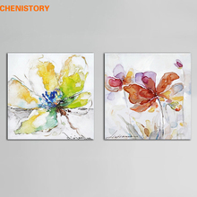 No Framed Colorful Floral Painting Modern Abstract Handpainted Oil Painting Home Wall Decor For Living Room Wall Art Picture