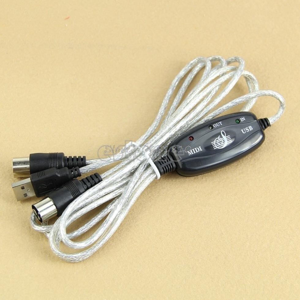 Миди USB в из Интерфейс кабель линии Конвертор ПК Музыка адаптер клавиатуры-R179 Прямая доставка(China)