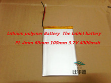 Free shipping tablet battery Polymer battery 3.7 v 4068100 3.7V 4000mah Lithium polymer Battery with Protection Board For PDA
