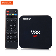 Hot Sale V88 Android 5.1 4K TV Box RK3229 Mali-400 1G RAM 8G eMMC H.265 WiFi Set Top Box 3D Media Player With Russian Keyboard
