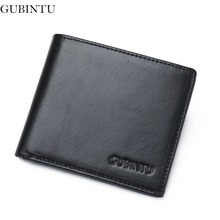 Buy GUBINTU 100% Genuine Leather Wallet Men Top Wallet Rfid Card Holder Multi Pockets Wallet Men -- BID189 PM49 Look-2) for $13.75 in AliExpress store