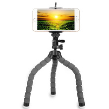 KINGJOY Octopus Style Mini Adjustable Flexible Tripod Selfie Stick Stand Holder with Mount Adapter for GoPro Cameras Cellphones