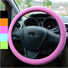 Car-styling Silicone Steering Wheel Skin Cover For Kia Ceed Mohave OPTIMA Carens Borrego CADENZA Picanto SHUMA(China)