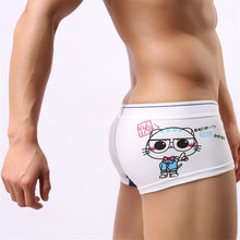 ZJLANS New men Sexy underwear Cotton boxers  male Cute cartoon printing panty mens seamless boxers man addicted lingerieThe