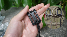 10 Pcs/lot ITW MOLLE elastic rope buckle  Backpack Carabiner strap buckle  backpack containing 2.5cm 25mm