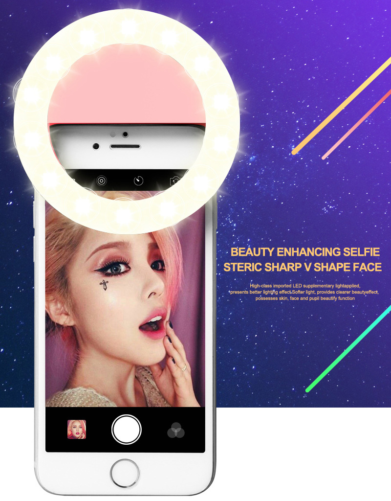 Luxury GIFT Universal LED Flash Light Up Selfie Luminous Phone Ring case For Vernee Apollo 2 X Mars Pro Thor E Plus Lite Mars(China (Mainland))