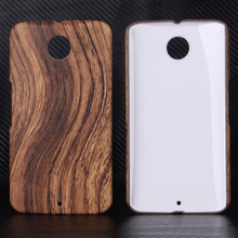 Retro Wood Wooden Grain Pu Leather Hard Protective Cover Skin Case For Motorola Moto Nexus 6 XT1100 XT1103 Cell Phone