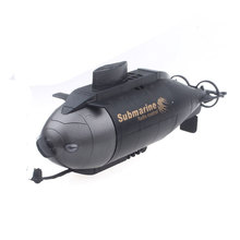 Remote Control Submarine Electric RC Ship Radio-controlled Toy Black Blue Toy Mini Boat Submarine Model With Car-charger