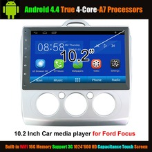 "10.2 ""Car Media Player for Ford Classic Focus Android 4.4 True 4-Core ,WiFi Support 3G 1024*600 HD Capacitance Touch Screen"