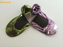 Free shipping ! Big discount for 11.11 foldable shoes for wedding gift, after party dance, drive car use or promotion use(China)