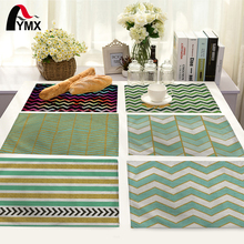 Simple Geometric Stripes Pattern Table Mat Table Napkin For Wedding Fashion Home Kitchen Decoration Dinner Tea Coffee Table Mat(China)