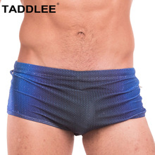 Buy Taddlee Brand Men's Sexy Swimwear Swim Boxer Briefs Bikini Boardshorts Surf Bathing Suits Swimming Trunks Gay Penis Pouch WJ New