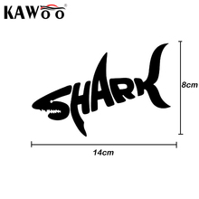 KAWOO 2PCS/LOT SHARK Car Stickers Cool Letter Automobile Modeling Car Decoration Car Styling Free Shipping 14*8cm