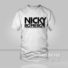 2016 Summer Men T-shirt electronic music major suit DJ Nicky Romero front logo t shirts