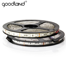 Goodland LED Strip Light RGB 5M DC12V 60LEDs/m IP65 Waterproof SMD5050 Single Color Flexible LED Ribbon For Home Decoration(China)