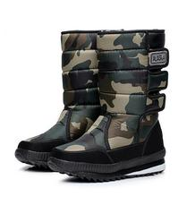 Men winter waterproof hunting boots thickening thermal snow boots outdoor warm fur shoes camouflage military desert boots male(China)