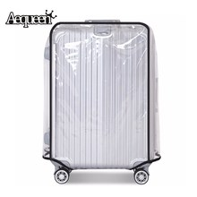 "AEQUEEN Waterproof Luggage Cover Transparent PVC Trolley Suitcase Cover Dust Luggage Protective Cover Travel Accessories 20"" 30""(China)"