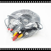 New 10M 20M 30M 50M BNC CCTV Video Power Cable 33ft 65ft 98ft 164ft For Security Camera DVR