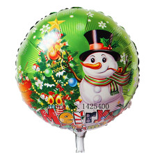 TSZWJ F-011 Free shipping aluminum round balloon snowman Christmas party balloons wholesale children's toys(China)