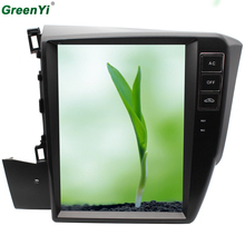 "GreenYi 2GB RAM Vertical 10.4"" Screen Android 6.0 Car GPS DVD Fit CIVIC 2012 2013 2014 2015 Navi Head Unit Multimedia DVD(China)"