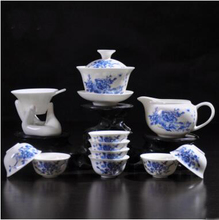 promotion blue-and-white porcelain tieguanyin kungfu tea set high quality black tea tool brewing flower tea T323(China)