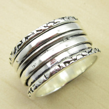 Plain Ring, Size US 5 1/4 ! Silver Plated HANDCRAFTED Jewelry ONLINE STORE India Jewelry(China)